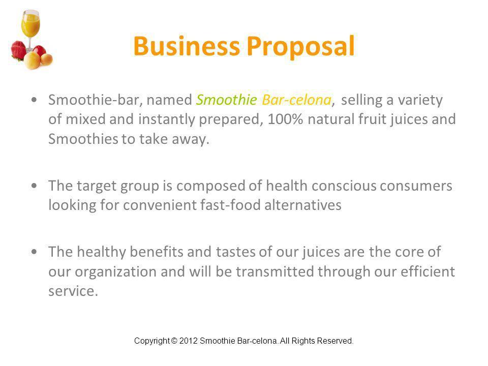 Smoothie Bar-celona Smoothie  Juice Bar Business Plan - ppt video