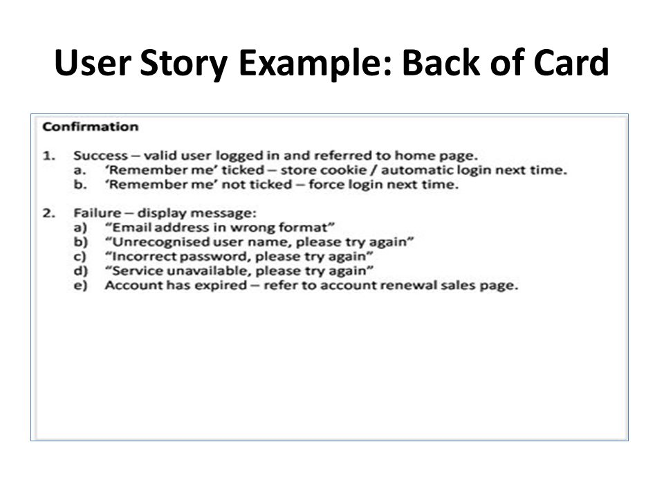 Introducing User Stories - ppt download
