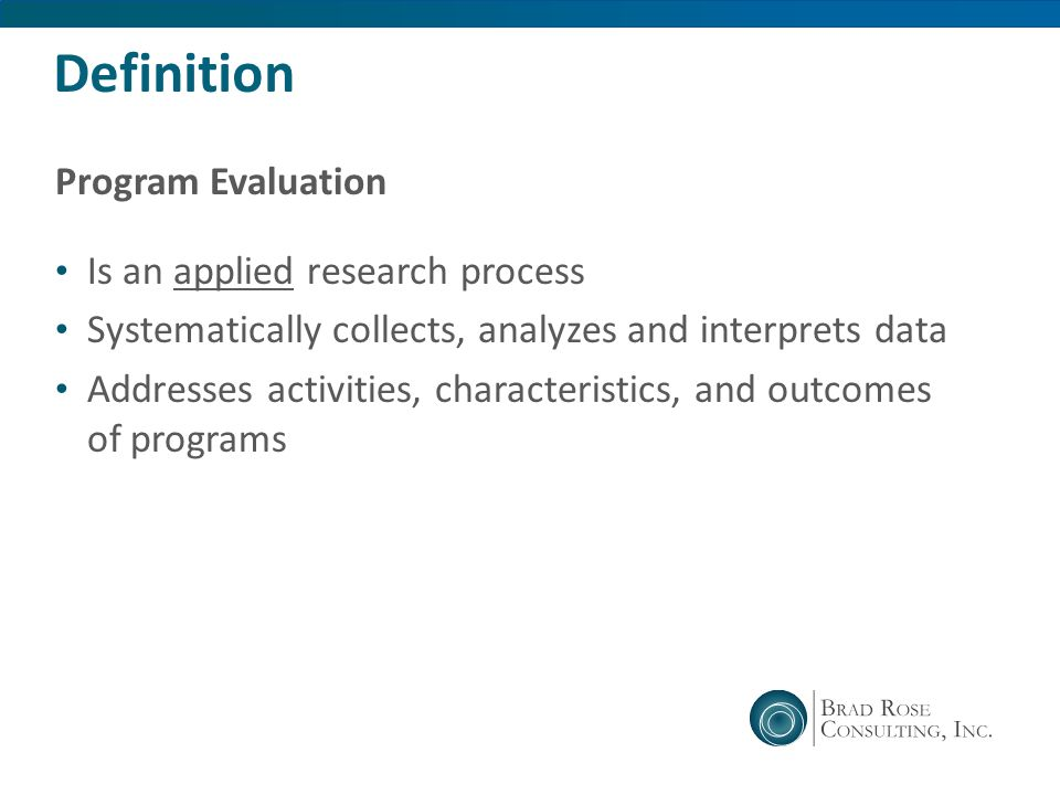 Program Evaluation What is it? - ppt video online download
