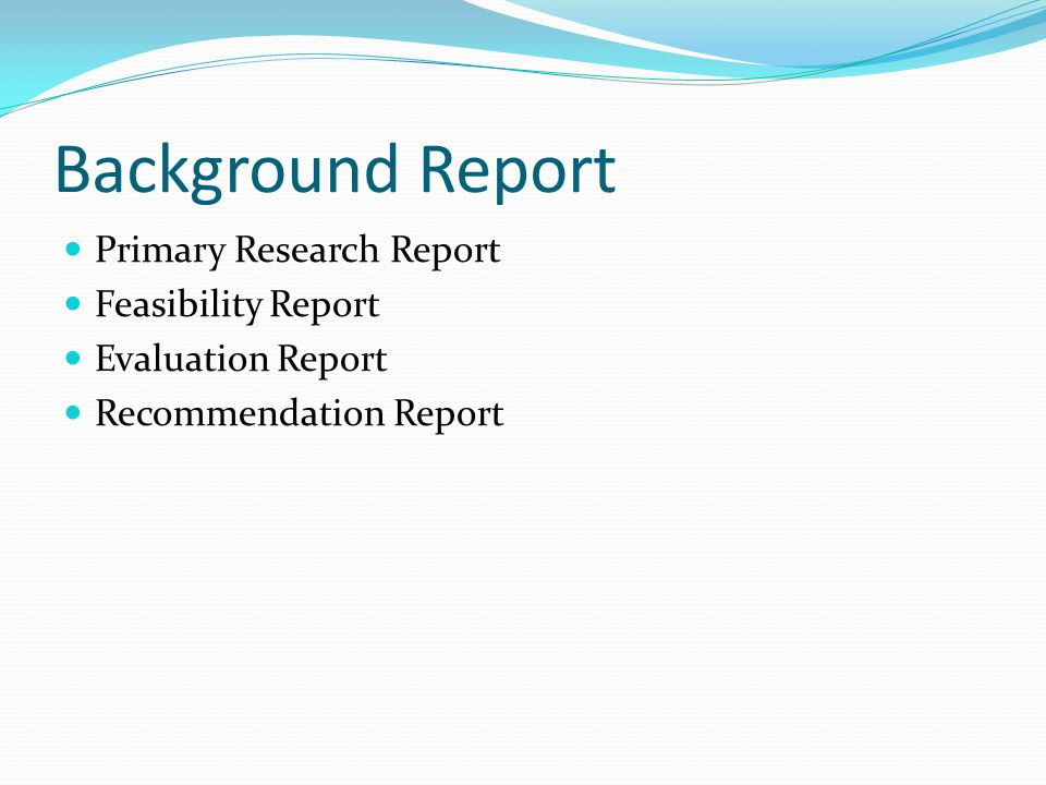 Definitions and Classification Background Reports - ppt video
