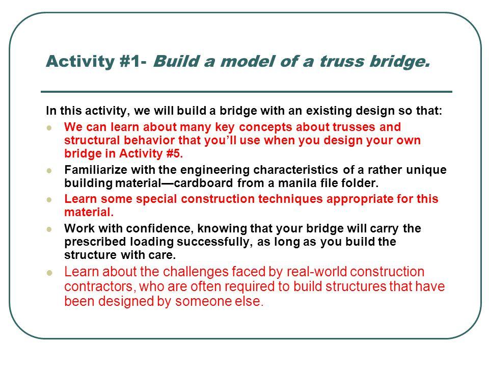 Designing And Building File Folder Bridges Ppt Video