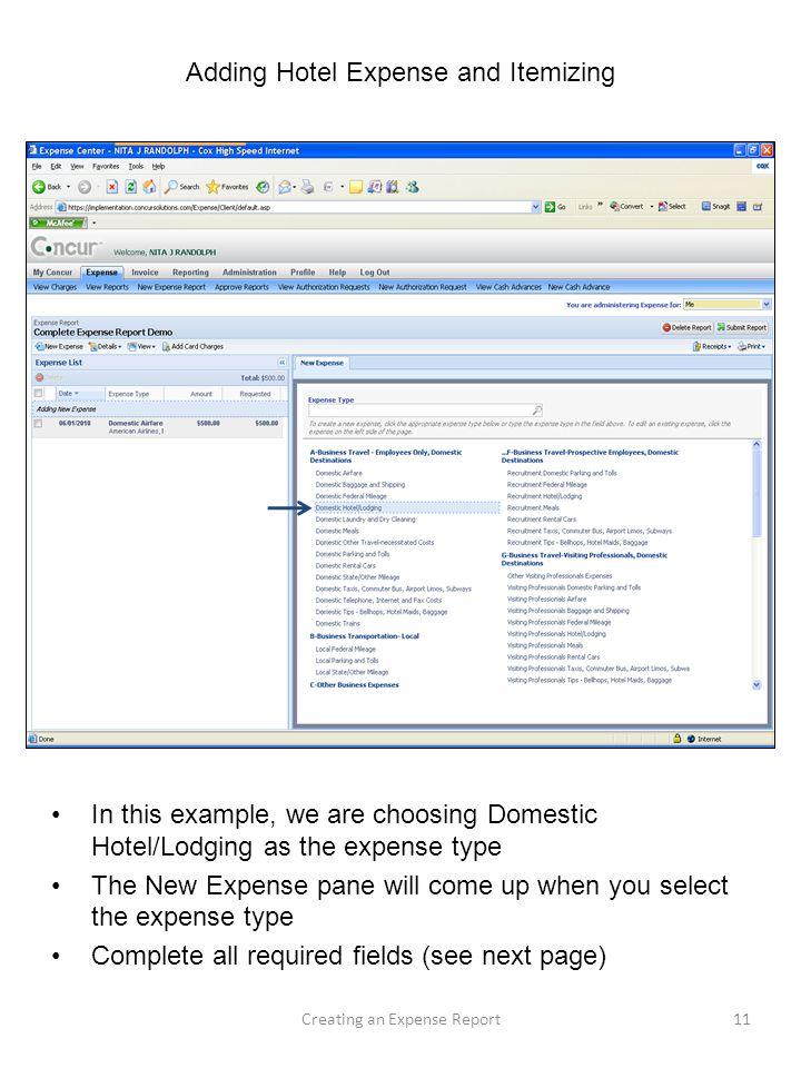 expense reports example - Kubrakubkireklamowe