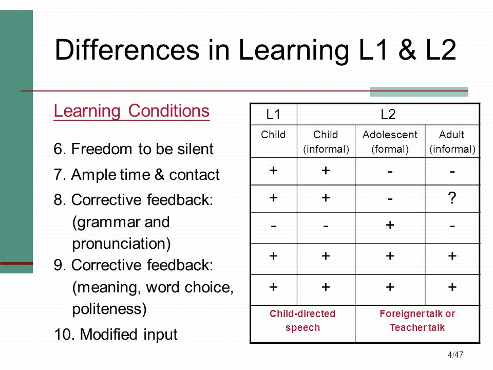 Explaining Second Language Learning - ppt video online download