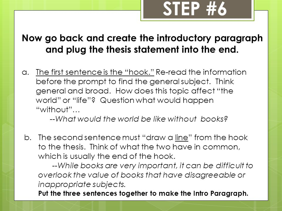 Does the thesis have to be in the introduction paragraph - how to make a introduction paragraph