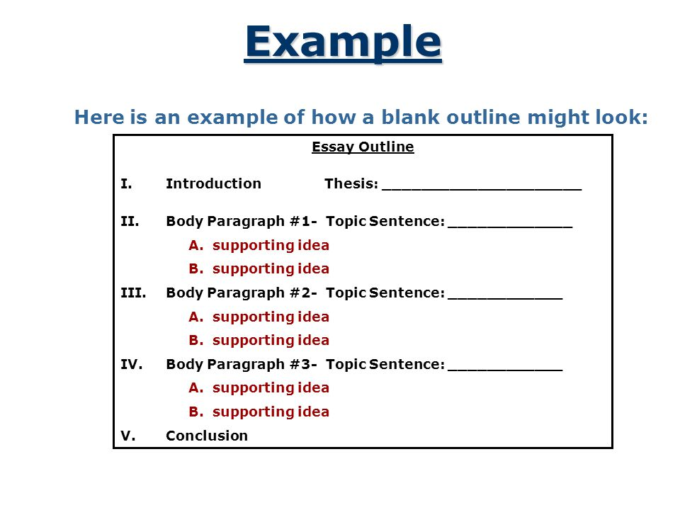 A Plan That Builds an Essay - ppt video online download