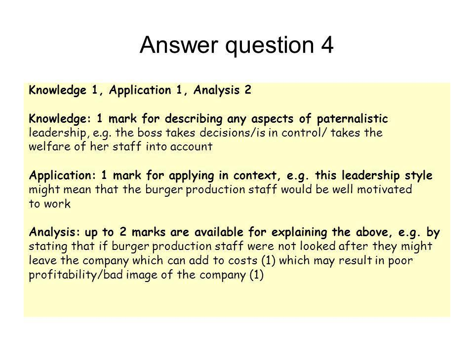 From the spec AS Economics and Business Leadership styles and xy