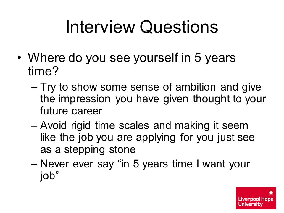CV Writing  Interview Techniques - ppt video online download - in five years time