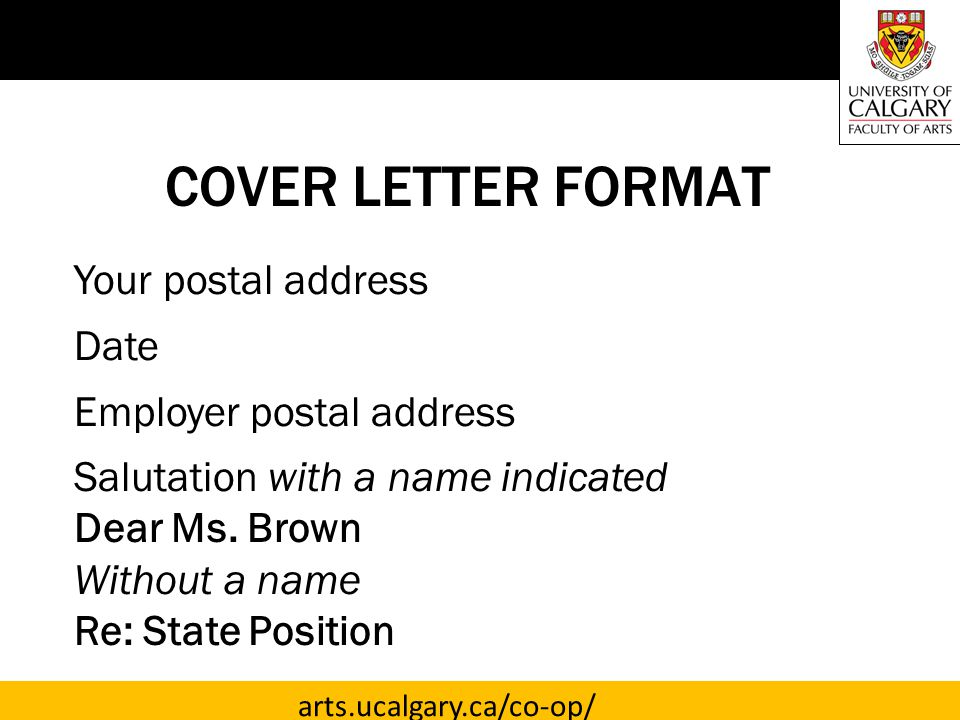 TARGETED COVER LETTERS - ppt video online download
