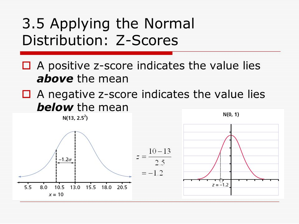35 Applying the Normal Distribution Z-Scores - ppt video online