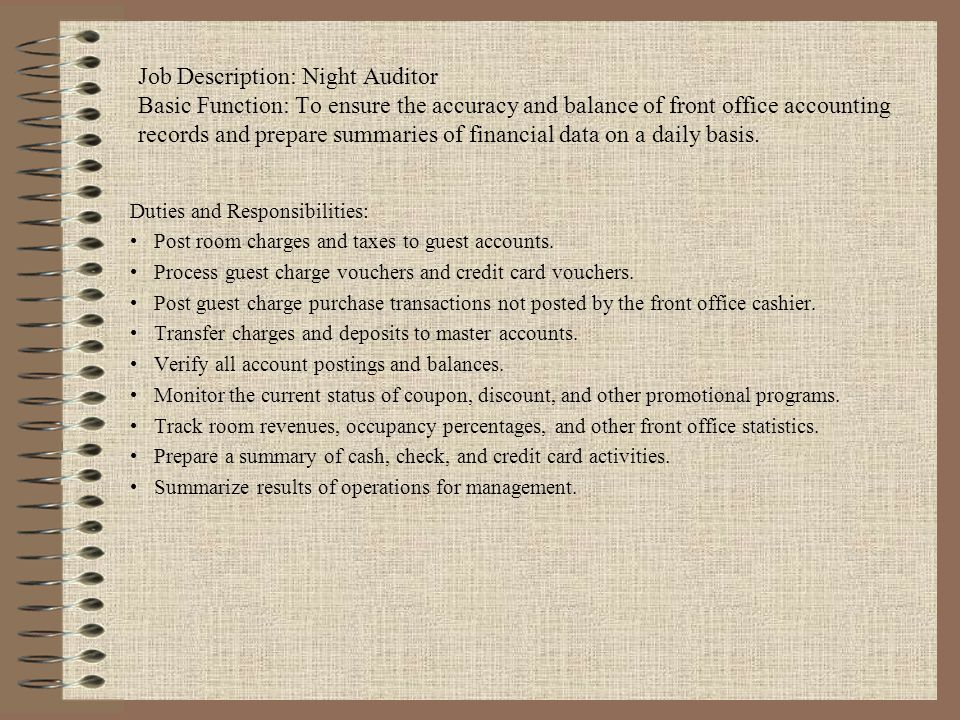 Front Office Organization Chart - ppt video online download