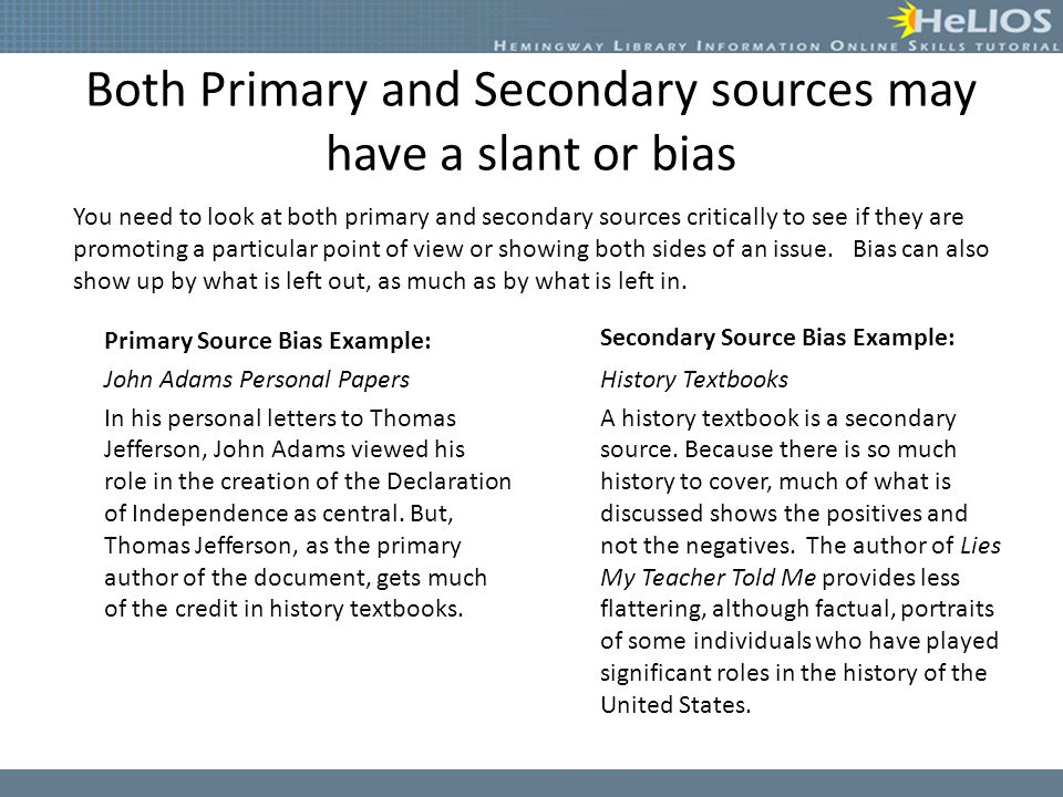 Primary vs Secondary Sources - ppt video online download