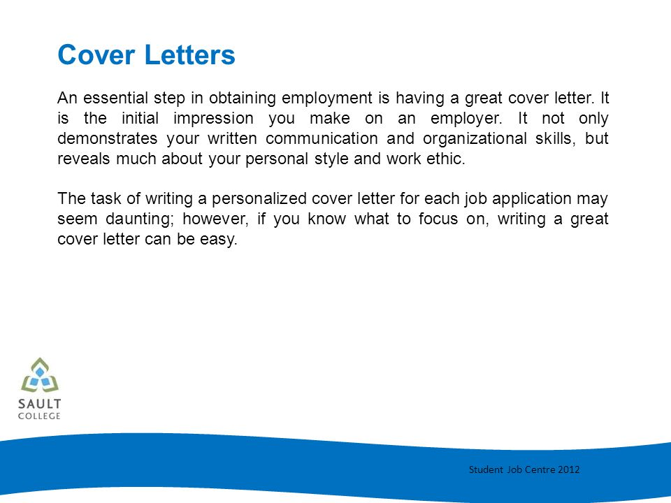 Cover Letter Writing - ppt video online download