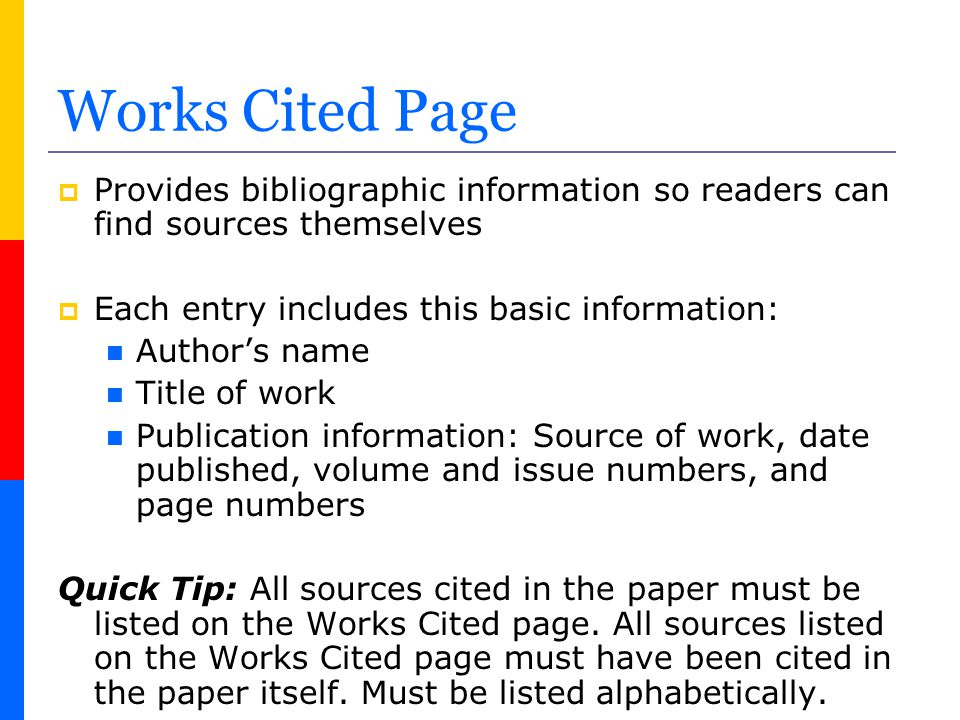 How to Create a Works Cited page in MLA Format - ppt video online
