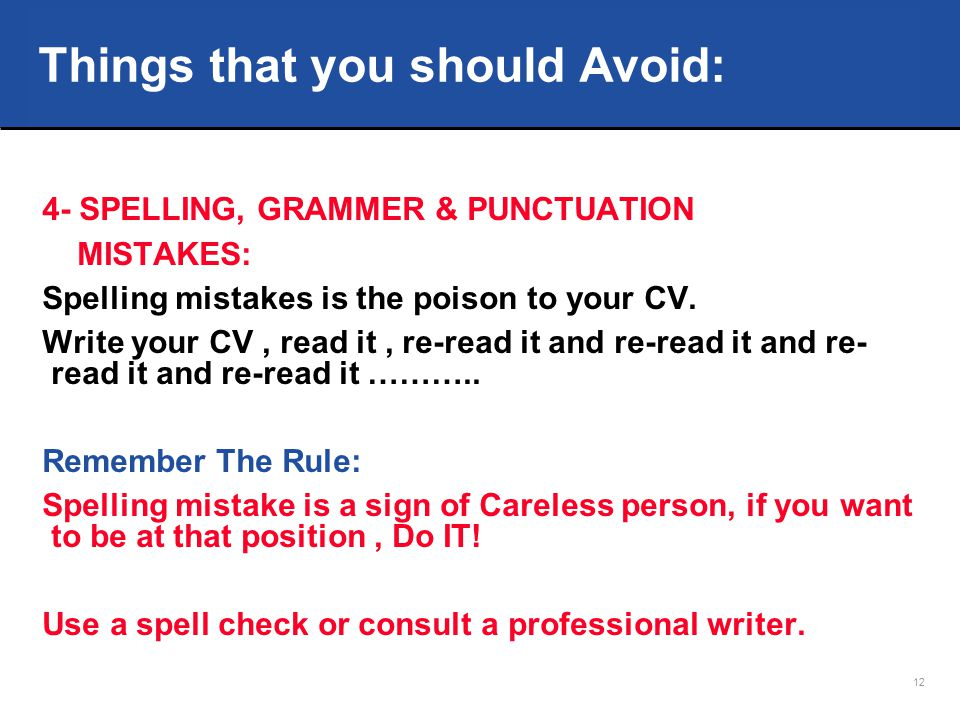 How to Write a CV that talks for you ? - ppt download