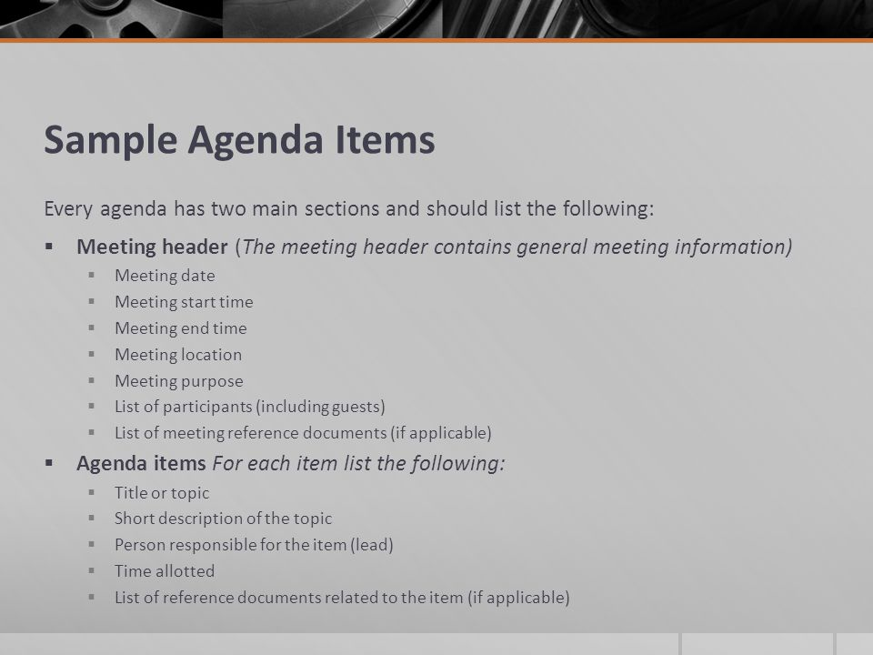 How to Create a Meeting Agenda - ppt video online download
