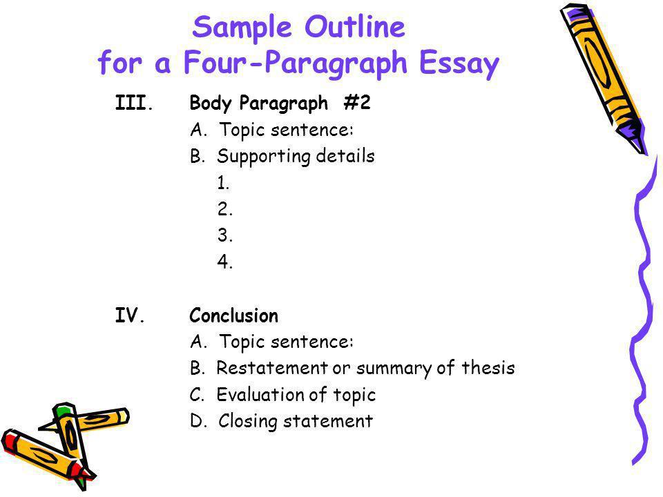 How To Write A 4 Paragraph Essay Outline Mistyhamel