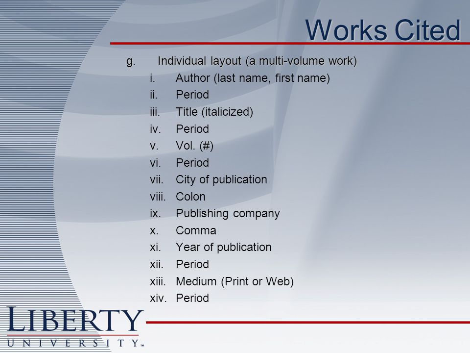 Graduate Writing Center Jessica Erkfitz - ppt download - work cited layout