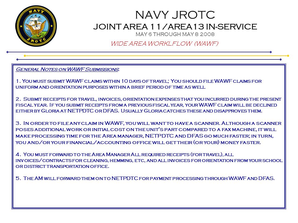 NAVY JROTC JOINT AREA 11/AREA13 IN-SERVICE MAY 6 THROUGH MAY - ppt
