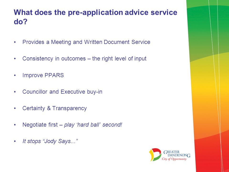 Pre-Application \u2013 Getting it right to start with! - ppt download