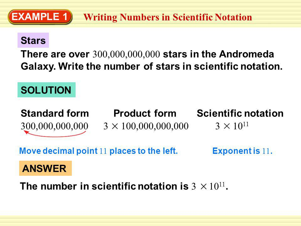 Writing Numbers in Scientific Notation - ppt video online download