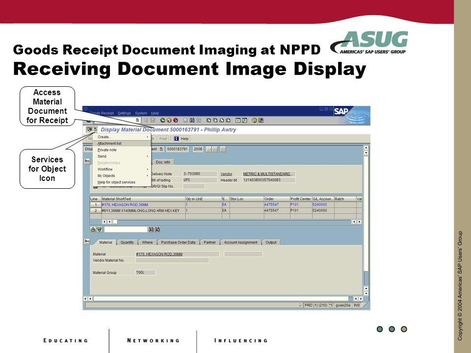 Goods Receipt Document Imaging at Nebraska Public Power District