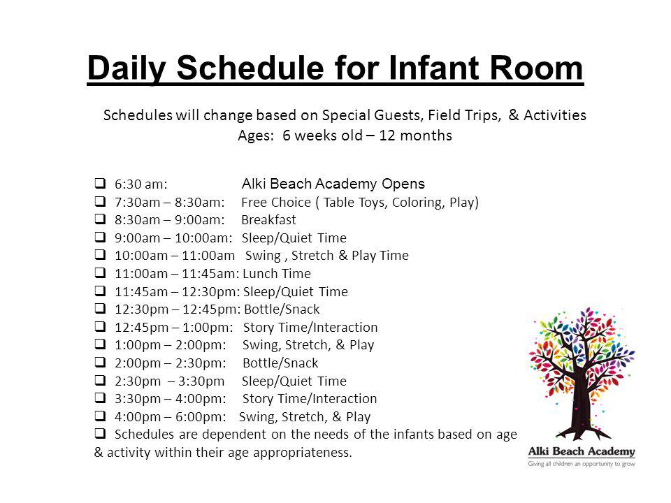 Daily Schedules - ppt video online download - infant daily schedule