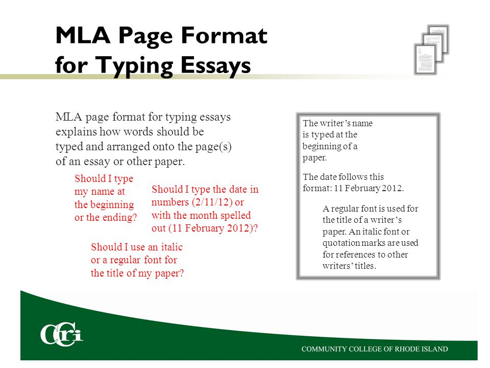 MLA Page Format for Essays - ppt video online download