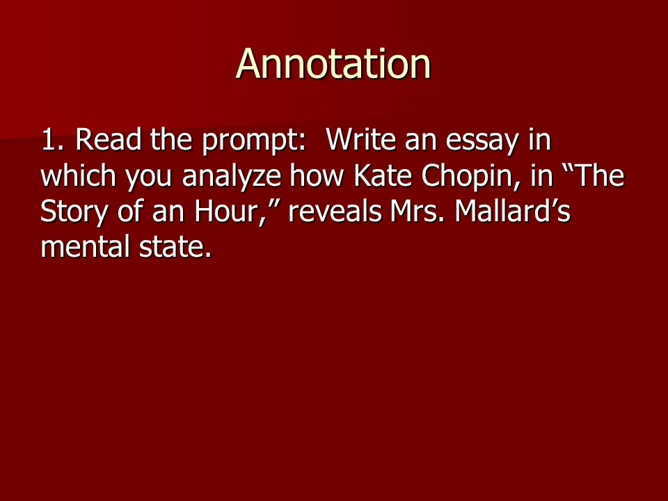 The Story of an Hour\u201d by Kate Chopin - ppt video online download