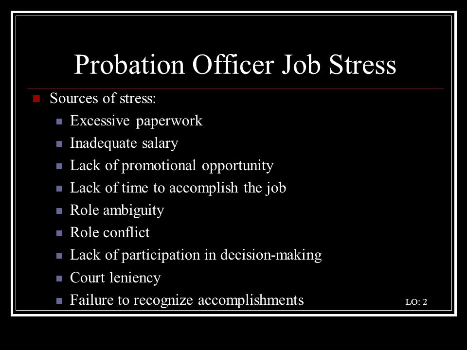 The Career Pathway of a Community Supervision Officer - ppt video