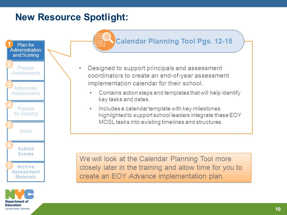 EOY MOSL Assessment Administration and Scoring Process  MOSL