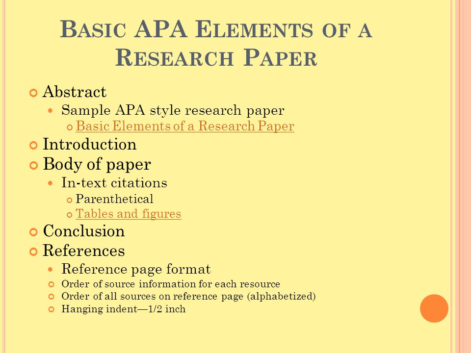 APA STYLE Created by Denise Regeimbal and Amanda Rutstein, ppt download