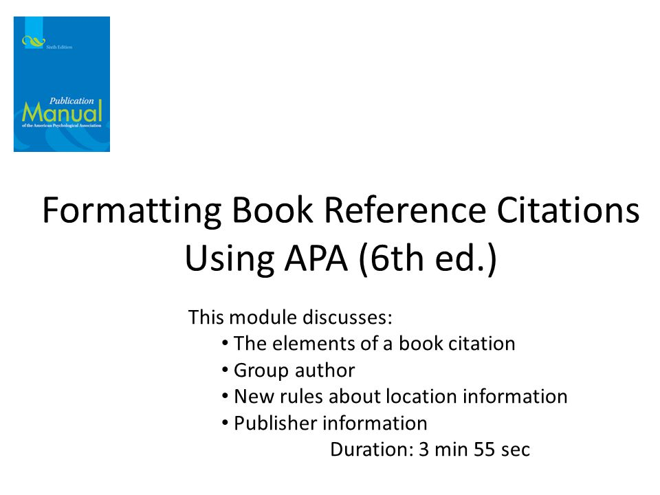 Apa Style Manual 6th Edition Pdf Download Free User Guide