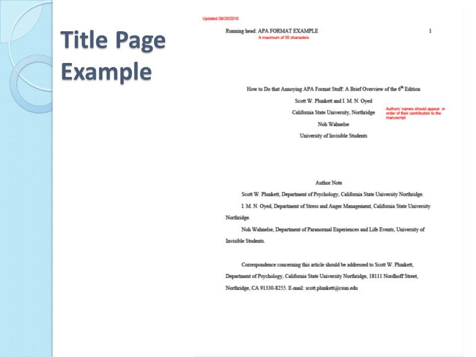 APA Manuscript Elements - ppt video online download - running title scientific paper