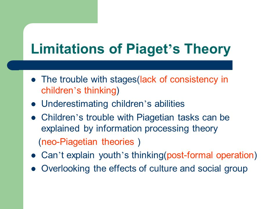 Piagetian and information processing theories Research paper Help
