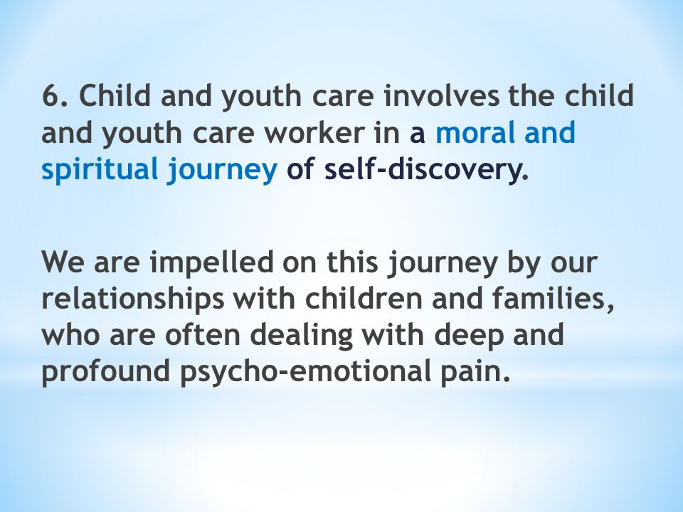 Preparing Child and Youth Care Practitioners The Experience of the