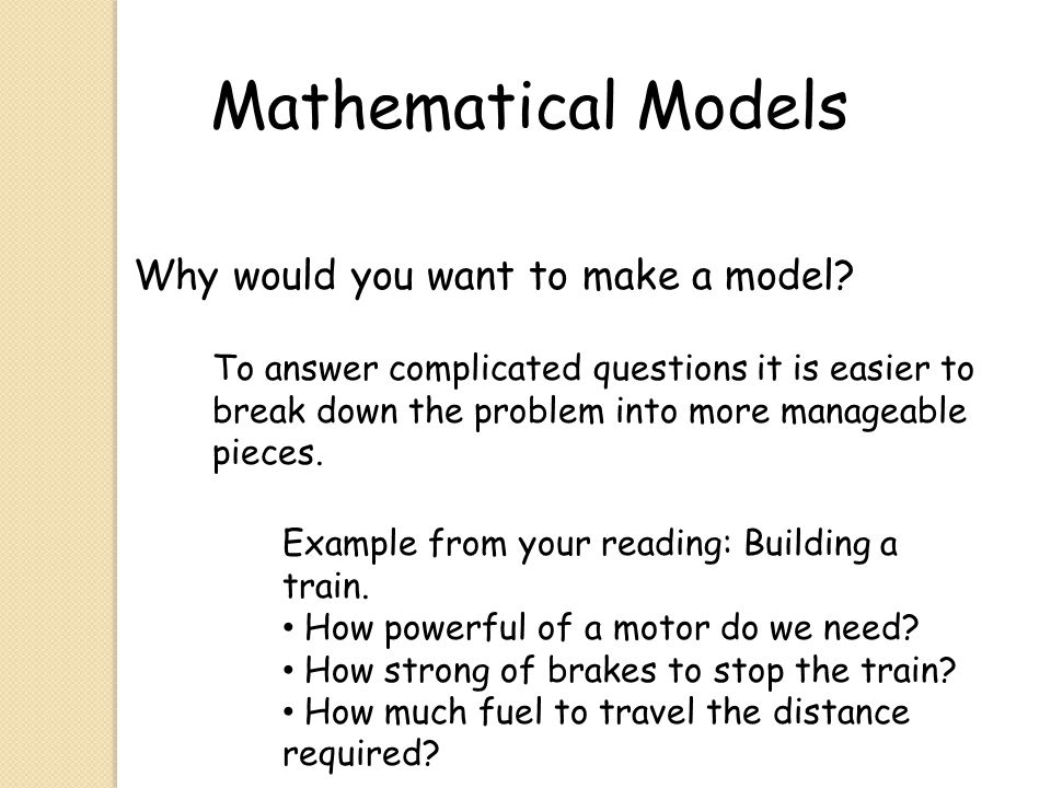 Mathematical Models Chapter 2 - ppt download