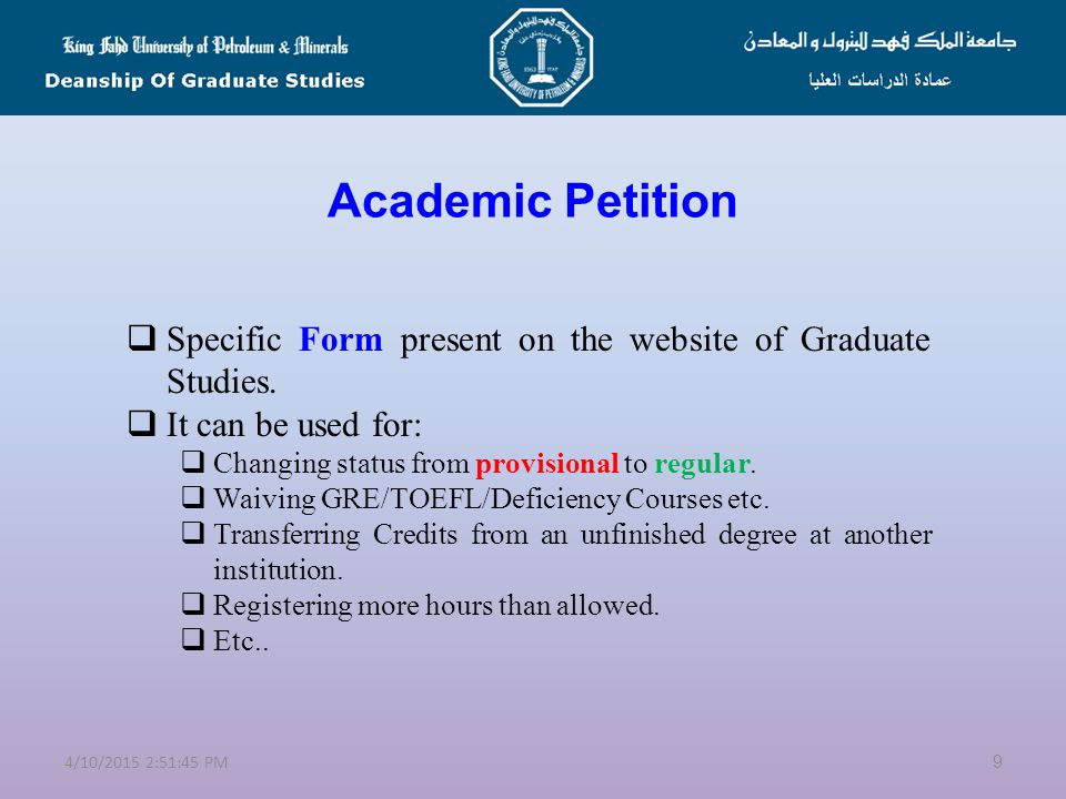 Rules and Regulations of Graduate Studies - ppt video online download