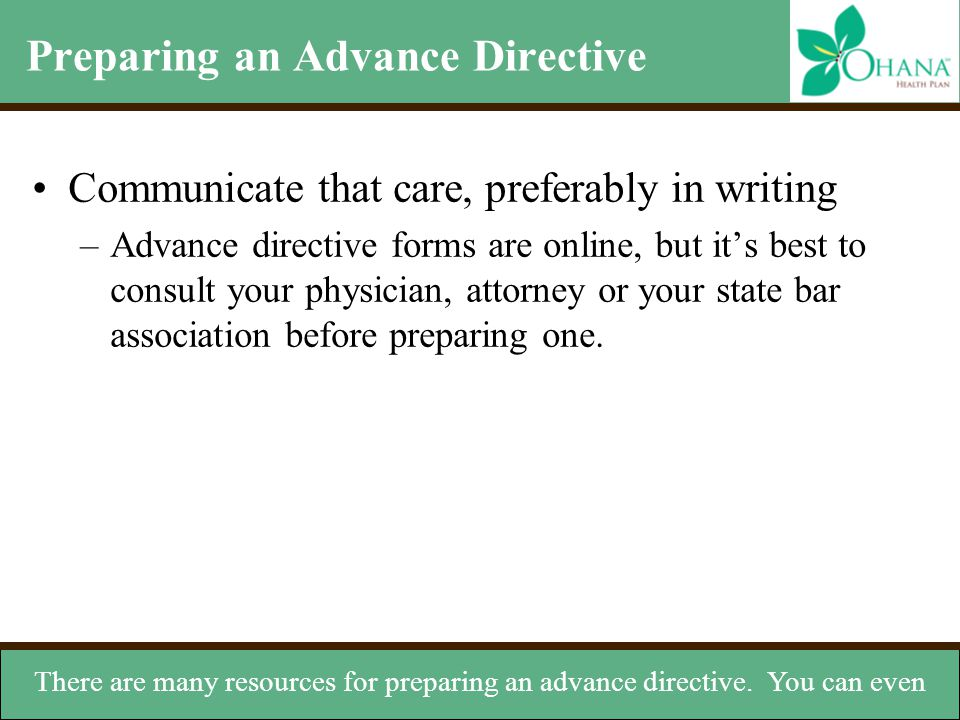 Compass Advance Directives - ppt download - Advance Directive Forms
