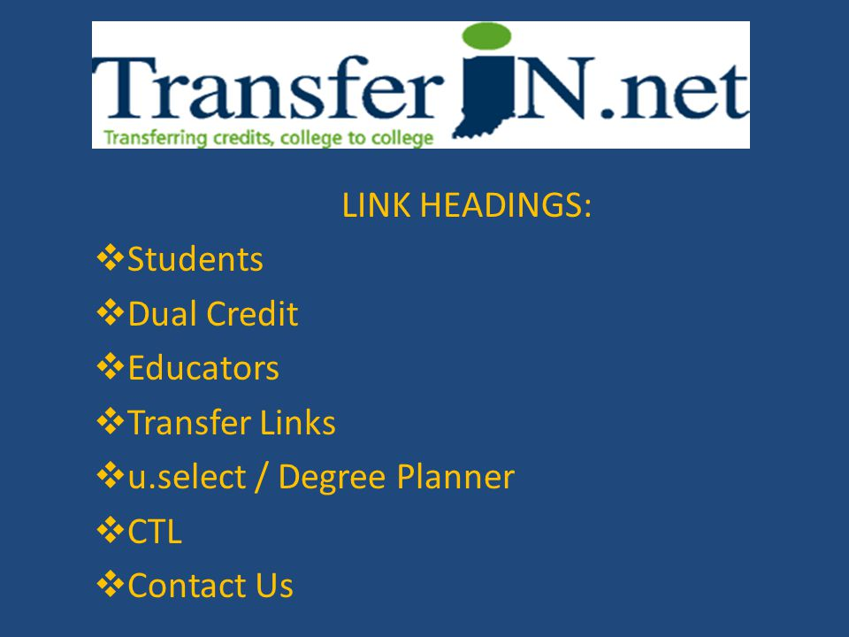 TransferIN Indiana\u0027s Statewide Transfer Initiative - ppt download