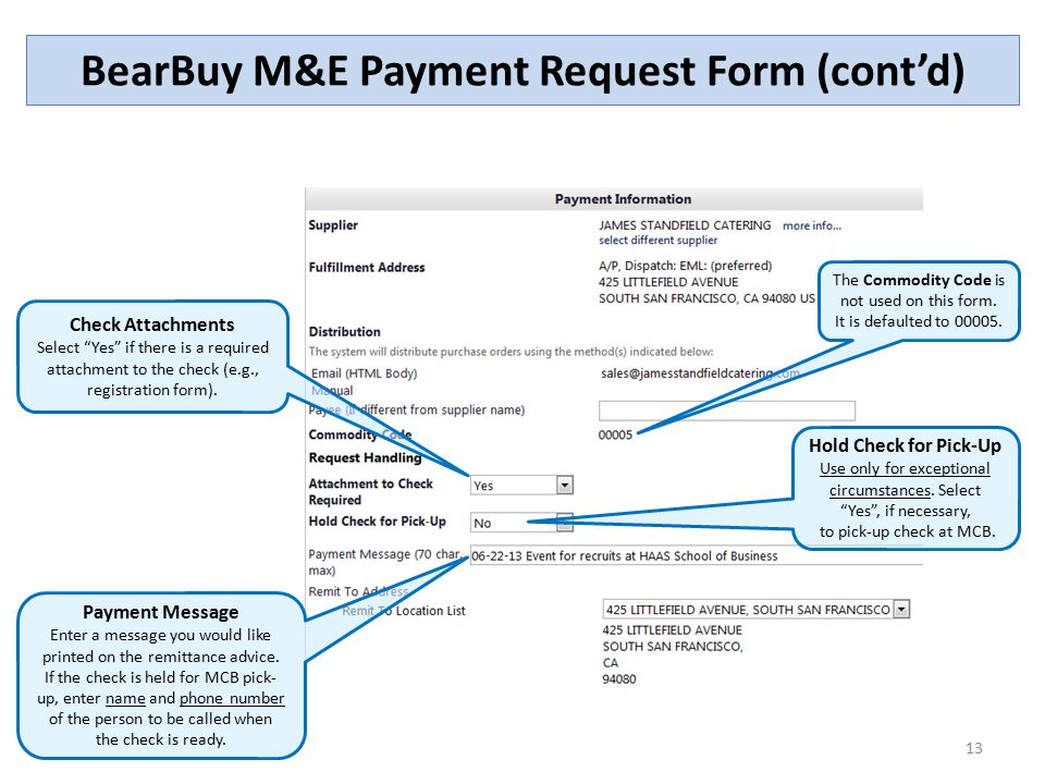 The Meeting and Entertainment (ME) Payment Request Form - ppt video