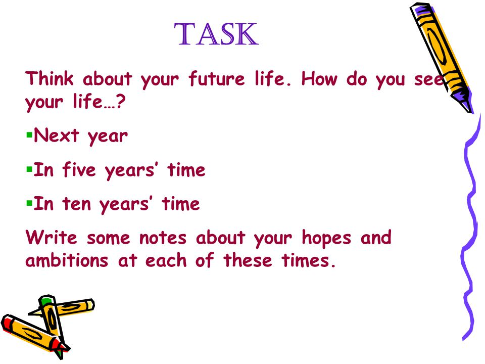 WRITING ABOUT YOUR FUTURE - ppt video online download - in five years time