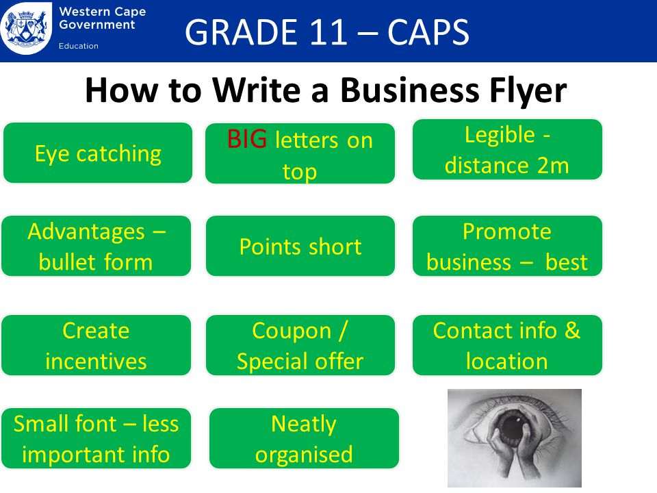 Presentation of Business Information - ppt video online download - how to write a flyer