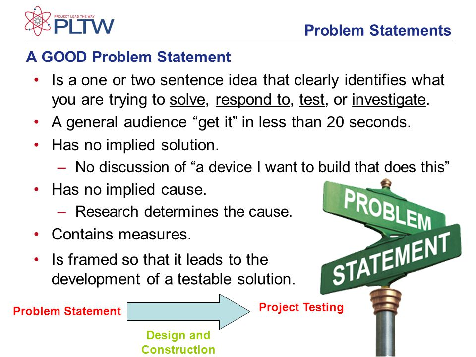 Developing a Problem Statement - ppt video online download
