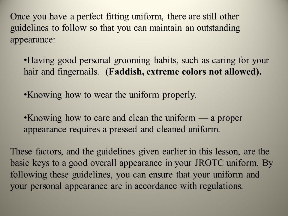 Proper Wear Jrotc Uniform And Personal Appearance Ppt