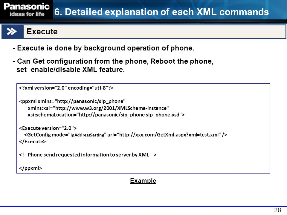 Table of Contents This document describes about XML application to