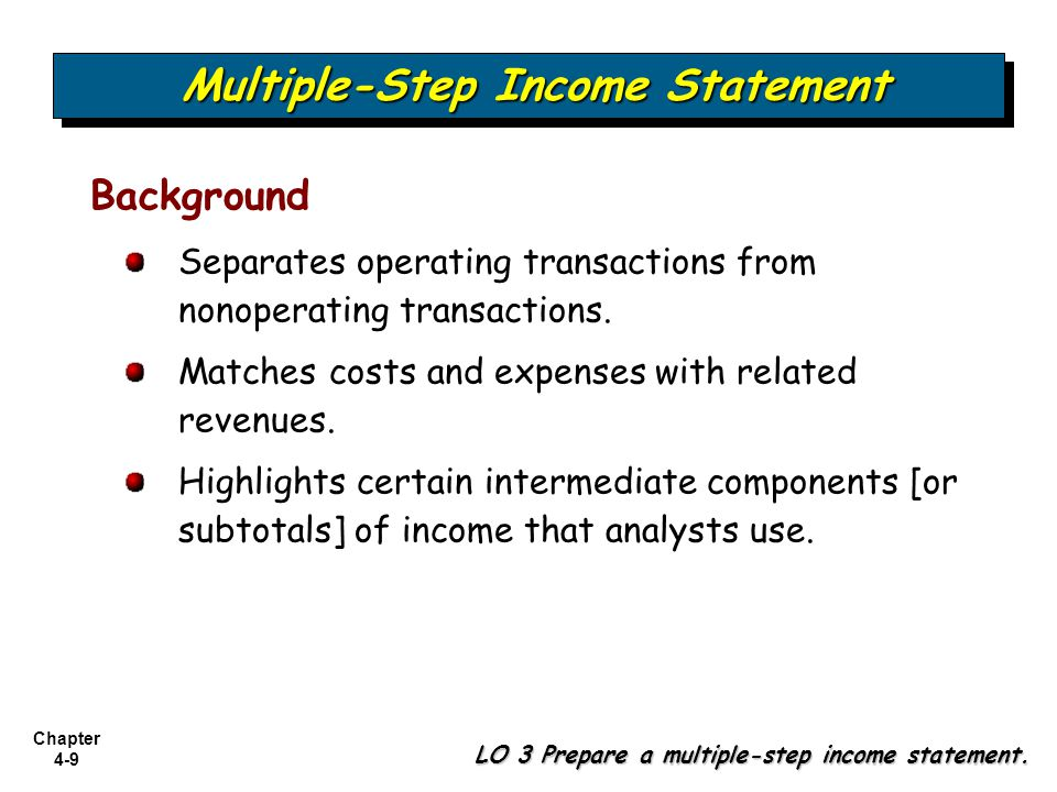 Chapter 4 Income Statement - ppt download