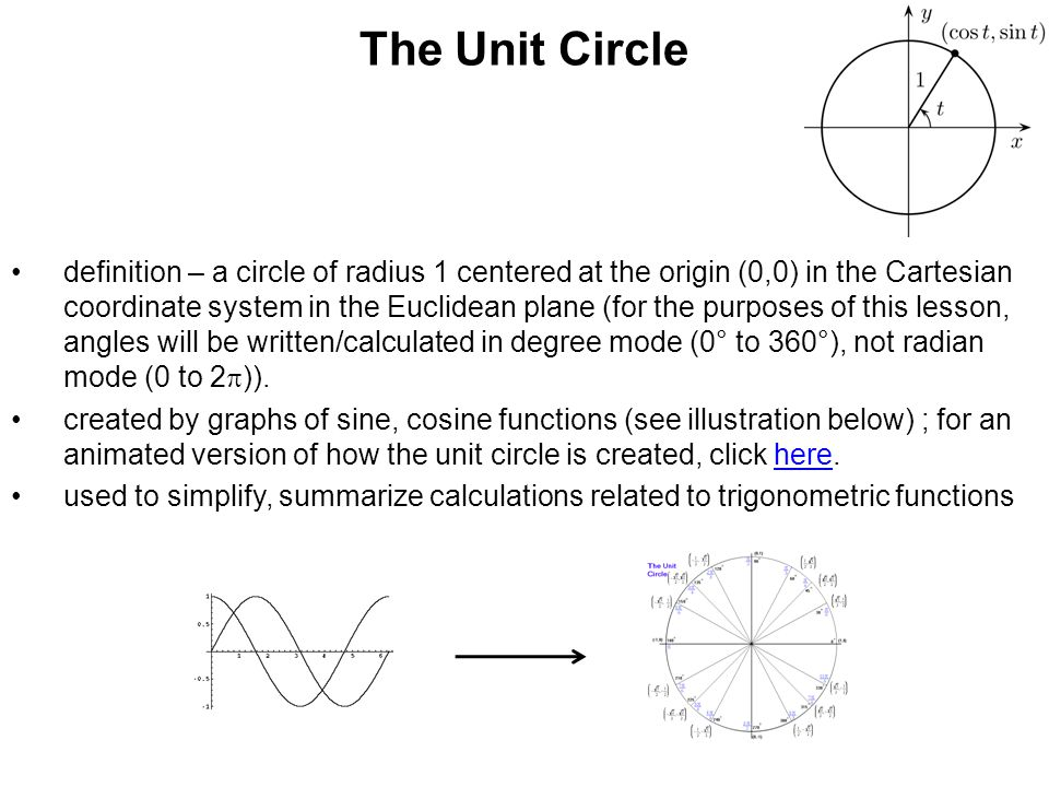 Trigonometric Functions And The Unit Circle Ppt Download