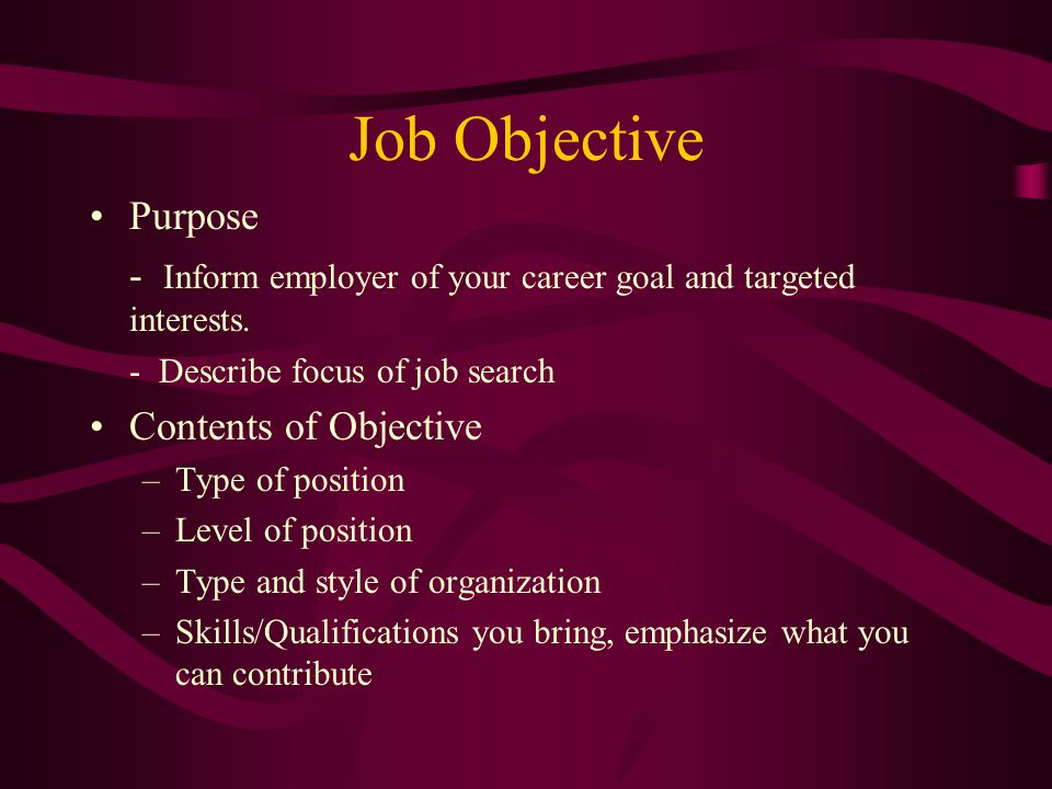 The Right Resume - ppt download