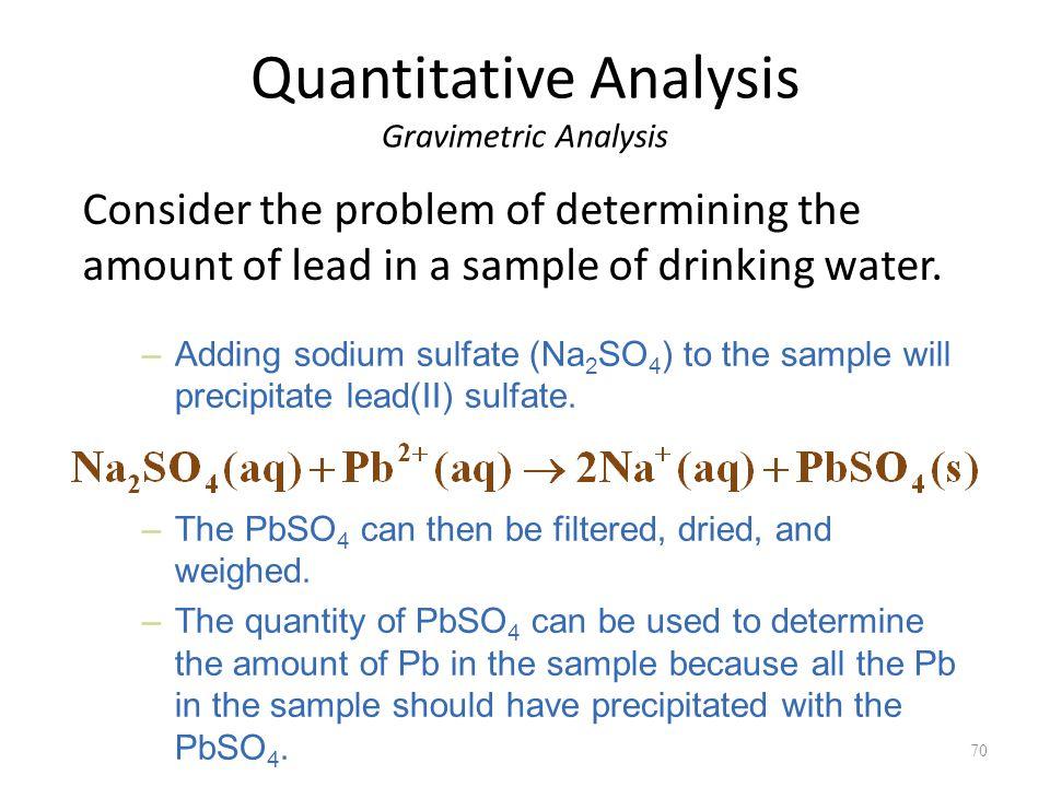 Quantitative determination of sulphate by gravimetric analysis