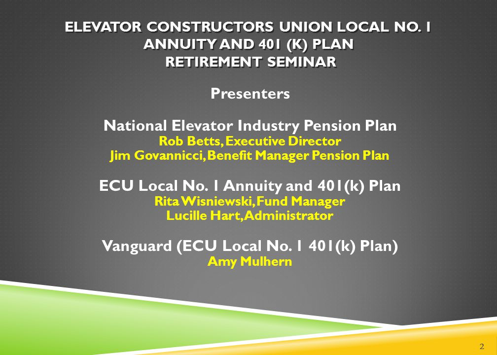 Elevator Constructors Union Local No ppt video online download